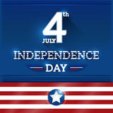 The fourth of July. American Independence Day background Royalty Free Stock Image