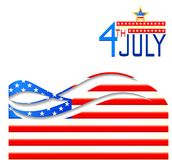 Fourth of July American Independence Day. Background in American flag color for American Independence Day Stock Images