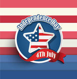 Fourth of july American independence day badges. Stock Photo