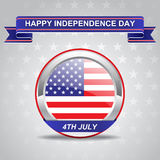 Fourth Of July American Independence Day. Card Royalty Free Stock Image