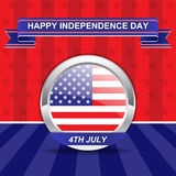 Fourth Of July American Independence Day. Card Royalty Free Stock Photo