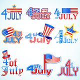 Fourth of July American Independence Day. Design for Fourth of July American Independence Day Stock Images