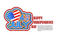 Fourth of July American Independence Day. This is file of EPS10 format Stock Photography