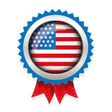 Fourth of july american independence day label badge vector Stock Photography