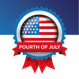 Fourth of july american independence day label badge vector Royalty Free Stock Photos