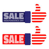 Fourth july American Independence Day Sale. 4th july American Independence Day Sale, vector illustration Royalty Free Stock Photos