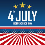 The fourth of July, American Independence Day. Royalty Free Stock Photo
