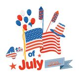 Fourth of July American Independence Day Royalty Free Stock Images