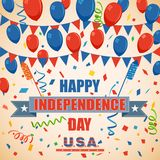 Fourth of July American Independence Day. Vector illustration of background of Fourth of July American Independence Day Royalty Free Stock Photos
