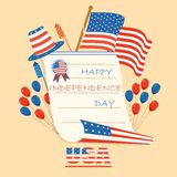 Fourth of July American Independence Day. Vector illustration of background of Fourth of July American Independence Day Royalty Free Stock Images