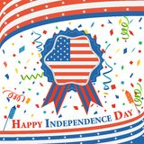 Fourth of July American Independence Day. Vector illustration of background of Fourth of July American Independence Day Stock Photography