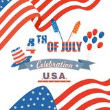 Fourth of July American Independence Day Royalty Free Stock Photography