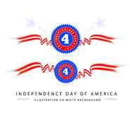 Fourth of july american independence. On white Stock Photography
