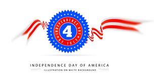 Fourth of july american independence. On white background Stock Images