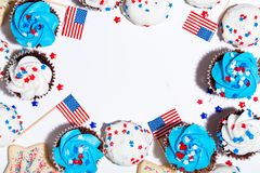 American holiday theme with desserts Stock Photography