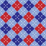 Fourth of July Argyle Royalty Free Stock Image