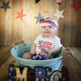 Fourth of July baby Stock Photos