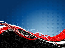 Fourth of July background. Decorative patriotic background for the fourth of July Stock Images
