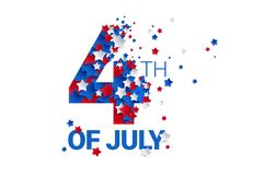 Fourth of July background - American Independence Day vector ill vector illustration