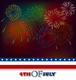 Fourth of July Background Royalty Free Stock Photos