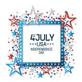 Fourth of July Background with Frame Royalty Free Stock Image