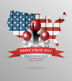 Fourth Of July Background Royalty Free Stock Images