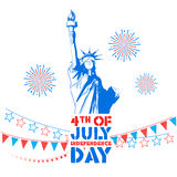 Fourth of July background for Happy Independence Day  America. Illustration of Fourth of July background for Happy Independence Day of America Royalty Free Stock Photo