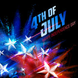 Fourth of July background for Happy Independence Day  America. Illustration of Fourth of July background for Happy Independence Day of America Royalty Free Stock Photos