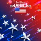 Fourth of July background for Happy Independence Day  America. Illustration of Fourth of July background for Happy Independence Day of America Royalty Free Stock Image