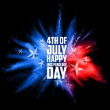 Fourth of July background for Happy Independence Day  America. Illustration of Fourth of July background for Happy Independence Day of America Stock Photography