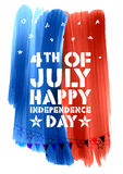 Fourth of July background for Happy Independence Day  America. Illustration of Fourth of July background for Happy Independence Day of America Stock Photo