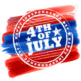 Fourth of July background for Happy Independence Day  America. Illustration of Fourth of July background for Happy Independence Day of America Royalty Free Stock Photography