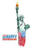 Fourth of July background for Happy Independence Day  America. Illustration of Fourth of July background for Happy Independence Day of America Stock Image