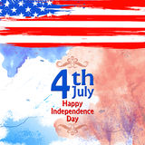 Fourth of July background for Happy Independence Day of America. Illustration of Fourth of July background for Happy Independence Day of America Royalty Free Stock Photos