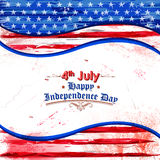 Fourth of July background for Happy Independence Day of America. Illustration of Fourth of July background for Happy Independence Day of America Royalty Free Stock Image