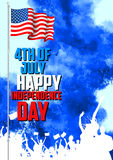Fourth of July background for Happy Independence Day of America. Illustration of Fourth of July background for Happy Independence Day of America Stock Photos