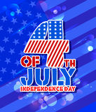 Fourth of July background for Happy Independence Day of America. Illustration of American Flag Background for Fourth of July background for Happy Independence Royalty Free Stock Image
