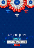 Fourth of July background for Happy Independence Day of America. Illustration of American Flag Background for Fourth of July background for Happy Independence Royalty Free Stock Photography