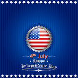 Fourth of July background for Happy Independence Day of America. Illustration of American Flag Background for Fourth of July background for Happy Independence Stock Photo