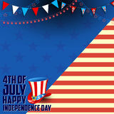 Fourth of July background for Happy Independence Day of America Stock Photos