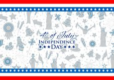 Fourth of July background for Happy Independence Day of America. Illustration of American Flag Background for Fourth of July background for Happy Independence Royalty Free Stock Images
