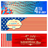 Fourth of July background for Happy Independence Day of America. Illustration of Promotional Banner for Fourth of July background for Happy Independence Day of Royalty Free Stock Image