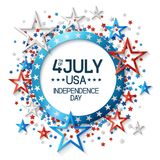 Fourth of July Background with Stars Stock Photography