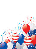 Fourth of july background. Vector illustration of Fourth of july background. Objects are layered Royalty Free Stock Image