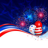 Fourth of july background. Vector illustration of Fourth of july background. Used transparency and blending mode. Objects are layered Royalty Free Stock Photo