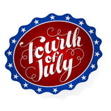 Fourth of July Badge Stock Photo