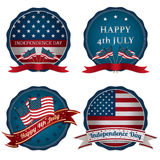 Fourth of july badges Royalty Free Stock Image