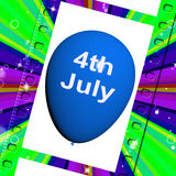 Fourth of July Balloon Shows Independence Spirit and Promotion Royalty Free Stock Photo