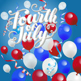 Fourth of July Balloons Background Royalty Free Stock Photography