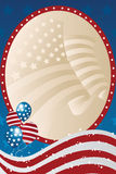 Fourth of July banner. A  illustration of a fourth of July banner Royalty Free Stock Photography